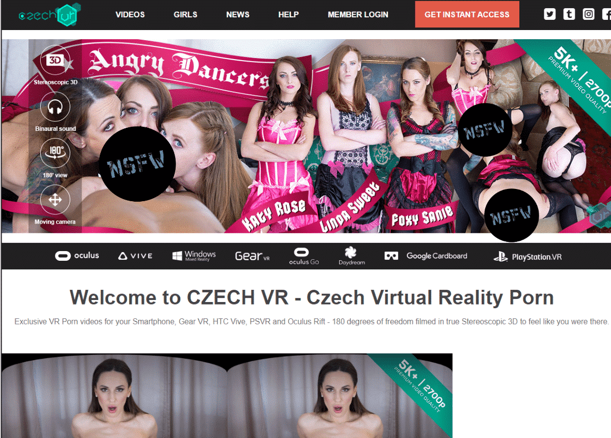 CzechVR Network Screenshot