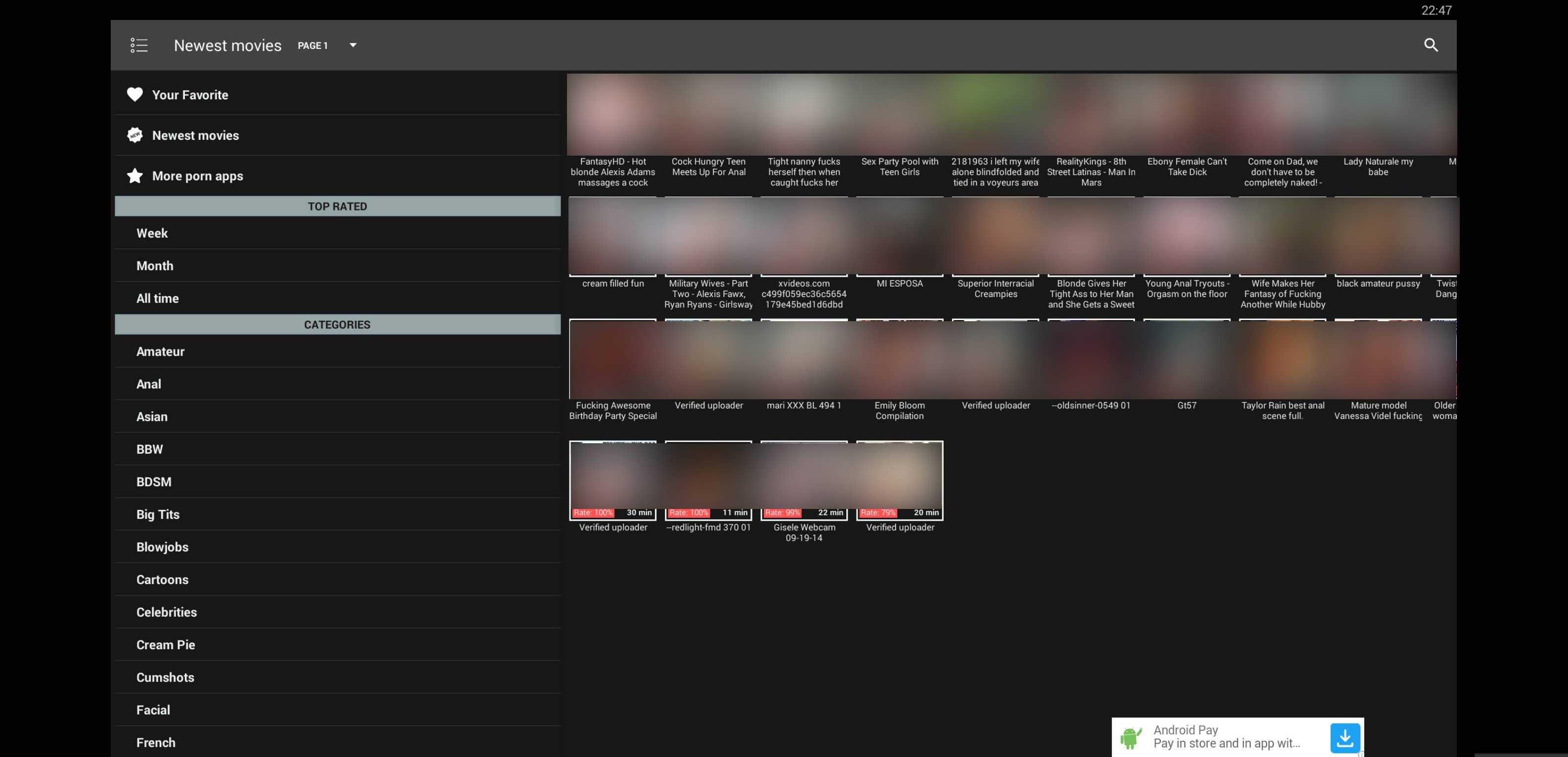 Application Porn xmovie apk: app summary and download links